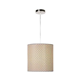 Lucide Moda Cottage Round Metal White Pendant Light