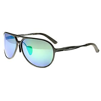 Rasse Earhart Aluminium polarisierten Sonnenbrillen - Rotguss/blau-grün