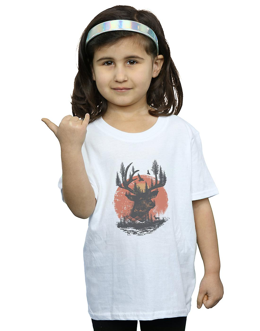 Dan Dingeroz Girls Deer Head T-Shirt