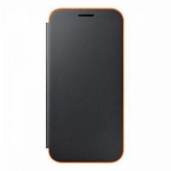 Samsung EF-FA520PBEG neon flip cover case black for Galaxy A5 2017