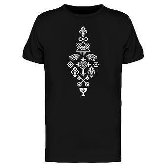 Heraldic Cross With Mystic Rose  Tee Men's -Image by Shutterstock