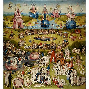 The Garden of Earthly Delights, Hieronymous Bosch, 50x46cm