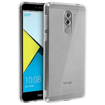 Tough rear clear case + shock absorbing silicone bumper for Honor 6X / 6X Pro