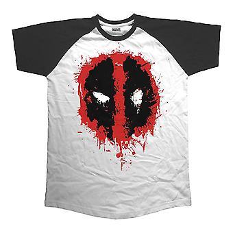 Men's Deadpool Splat Icon Raglan T-Shirt