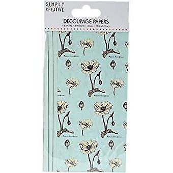 Simply Creative FSC Decoupage Paper - Wild Flowers (SCDEC042)