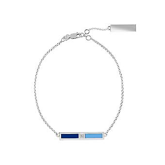 Kansas City Royals Sterling Silver Diamond Chain Chain Bracelet In Blue and Sky Blue