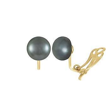 Éternelle Collection 9ct or AAA Peacock Stud perle d'eau douce Clip boucles d'oreilles
