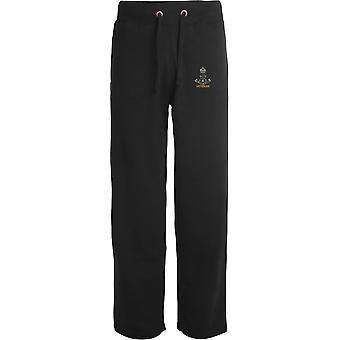 Green Howards Veteran-licenciado British Army bordados abertos hem Sweatpants/jogging Bottoms