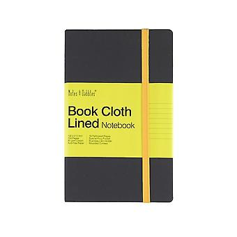Notes & Dabbles Luna Design Lined Cloth Notebook With Expandable End Pocket, Various Colours & Sizes