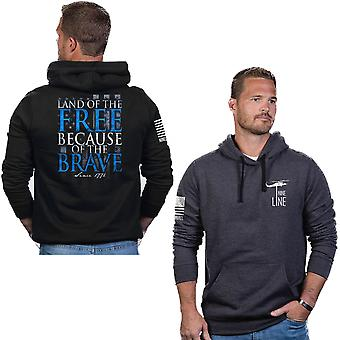 Nine Line Apparel Because Of The Brave Pullover Hoodie
