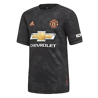 adidas Manchester United 2019/20 Kids Short Sleeve Third Football Shirt Black