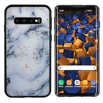 Back Cover Marble Glitter for Samsung S10 Plus Blue
