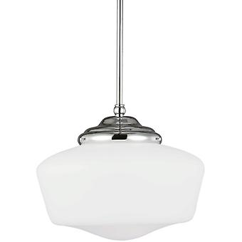 Sea Gull Lighting Academy 1-Light Pendant Flourescent Light Fixture Chrome