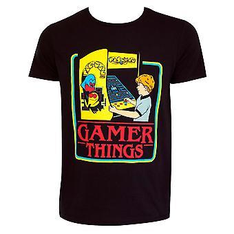 Pac-Man Gamer Things Black Tee Shirt
