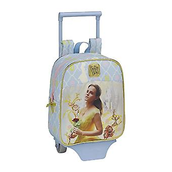 Backpack La Bella Y The Official Beast for Nursery with Trolley Safta