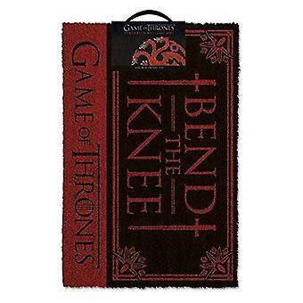 Game of Thrones Bend The Knee Door Mat Multi-Colour