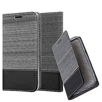 Cadorabo tapauksessa LG Q6 tapauksessa tapauksessa kattaa - matkapuhelin tapauksessa magneettinen lukko, seistä toiminto ja korttiosasto - Case Cover suojakotelo tapauksessa kirja taitto tyyli