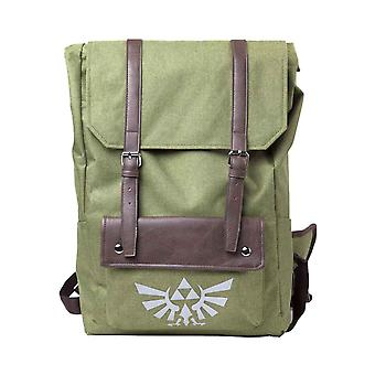 Zelda Backpack Link Hooded Hyrule logo Canvas new Official Nintendo Green