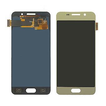 Stuff gecertificeerd® Samsung Galaxy a3 2016 A310 scherm (touchscreen + AMOLED + onderdelen) A + kwaliteit-goud