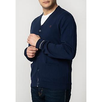 Merc BECKTON, Men's Fine Knitted Cotton Cardigan with Tipped Details