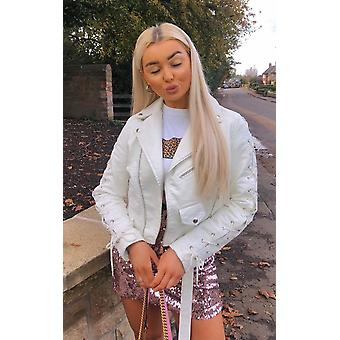 IKRUSH Womens Jenni Faux Leather Jacket