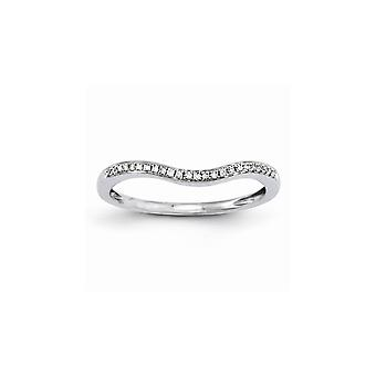 14k White Gold Polished Wedding Band Ring Jewely Gifts for Women - .07 dwt 1.6 Grams
