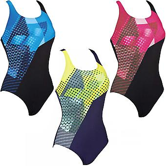 arena Womens Himmel One Piece V Back Training Pool Swimming Swimsuit Costume