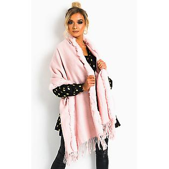 IKRUSH Womens DILLs Faux Fur trim Cape