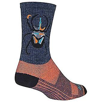 Chaussettes - Sockguy - 6'quot; Wool Crew Beetle L/XL Cycling/Running