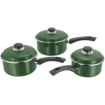 Judge Induction, Green 3 Piece Saucepan Set