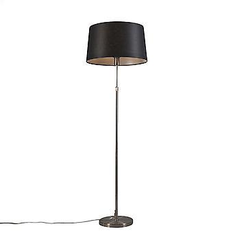 Lampada da pavimento Q-AQA Acciaio con 45cm Black Shade - Parte