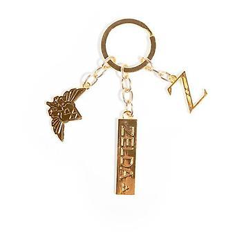 Nintendo Legend av Zelda metal Charms nøkkelring unisex gull (KE588817ZEL)