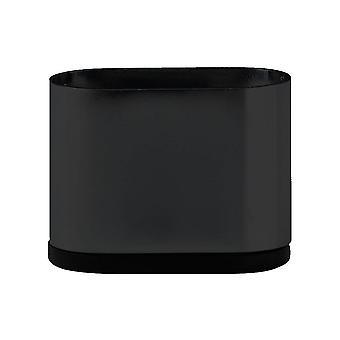 Musta soikea huone kalut jalka 5 cm
