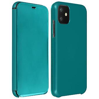 Flip case til Apple iPhone 11 gennemskinnelig stiv tynd og let klap-grøn
