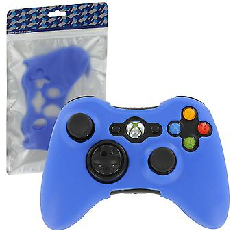 Zedlabz soft silicone rubber skin grip cover case for microsoft xbox 360 controller - blue