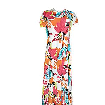 Attitudes by Renee Petite Dress S Como Jersey Floral Pull On White A347505
