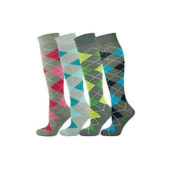 Knee High Socks Argyle 001