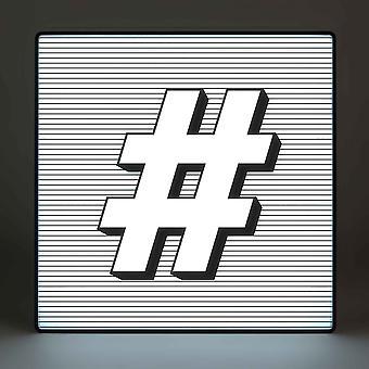 Лайтбокс алфавит hashtag (#)