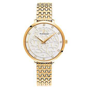 Pierre Lannier EOLIA 053J502 - horloge geval ronde stalen Gold Bracelet stalen gouden vrouw