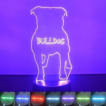 Bulldog Colour Changing LED Acrylic Light