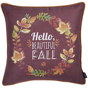 "18""x 18"" Thanksgiving Leaf Crown Decorative Throw Pillow Cover"