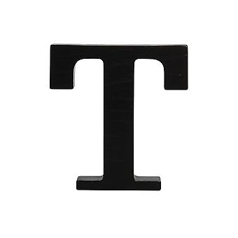 Black Large Capital Alphabet Letters-T