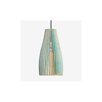 Iumi Ena L Large Cone Shaped Plywood Pendant Lamp - Light Blue