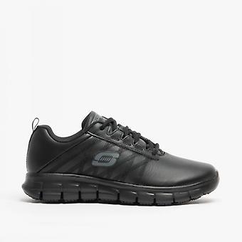 Skechers العمل مريحة صالح: المسار متأكد - Erath الأب السيدات الجلود المضادة للانزلاق أحذية الأسود