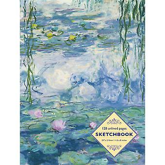 كراسة الرسم Waterlilies من قبل كلود مونيه 128Page صفحات غير مُدونة من قبل Peony Press