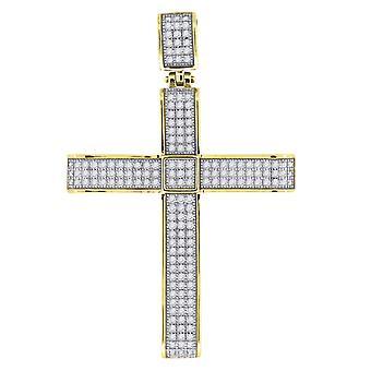 925スターリングシルバーメンズは、男性のための宗教的信仰クロスペンダントネックレスチャームジュエリーギフトを舗装