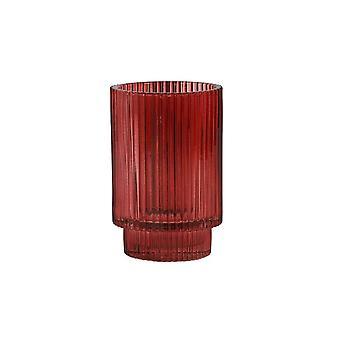 Ljus & Levande Tealight 8.5x13cm - Philon Glas Burgundy