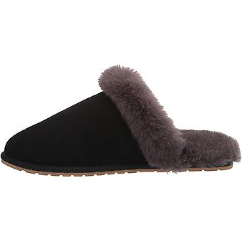 Amazon Essentials Women's Scuff Slipper, Black, 5 B US