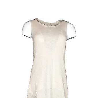LOGO by Lori Goldstein Women's Sweater (XXS) Knit Tank Beige A274640