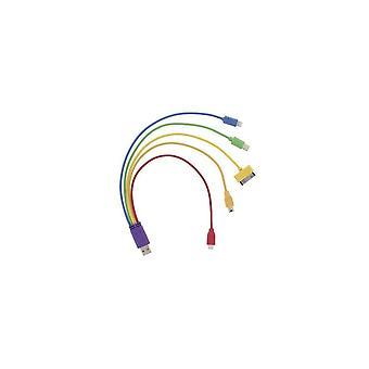 Agilizar NYC '5 Em 1' Cabo do carregador adaptador arco-íris